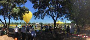 Globotur en el Parque del Alamillo con Quesos Los Vázquez