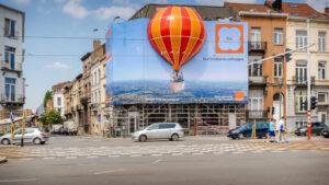 Anuncios y globos aerostáticos